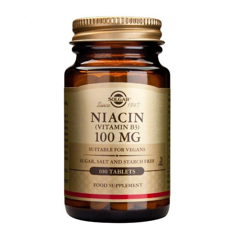 Solgar Niacin (B3) 100mg 100tablets