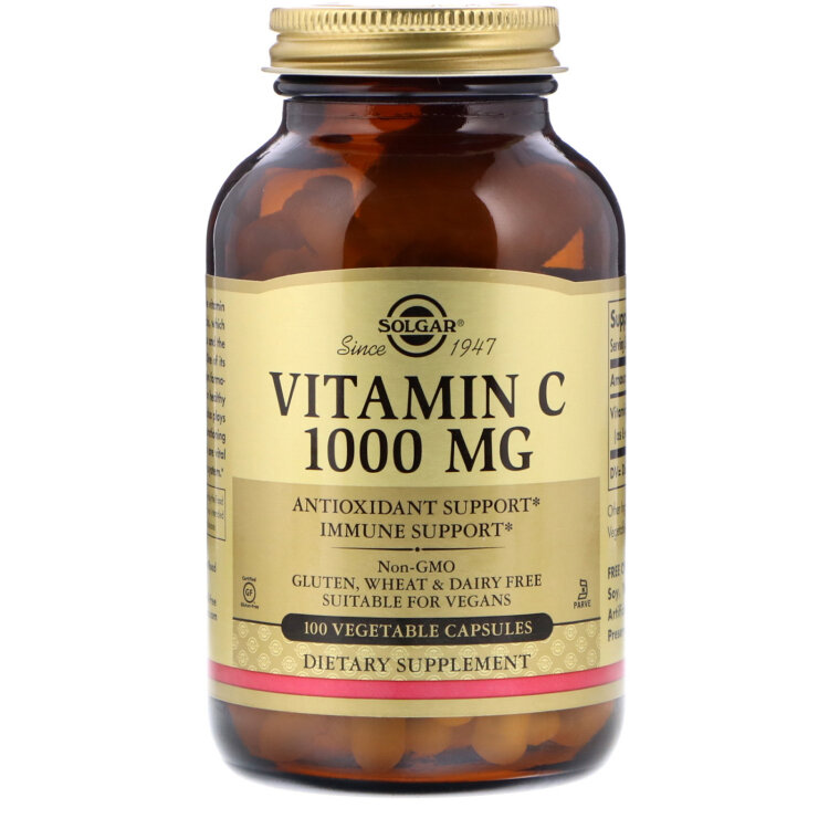 Solgar Vitamin C 500mg Βιταμίνη C 100caps