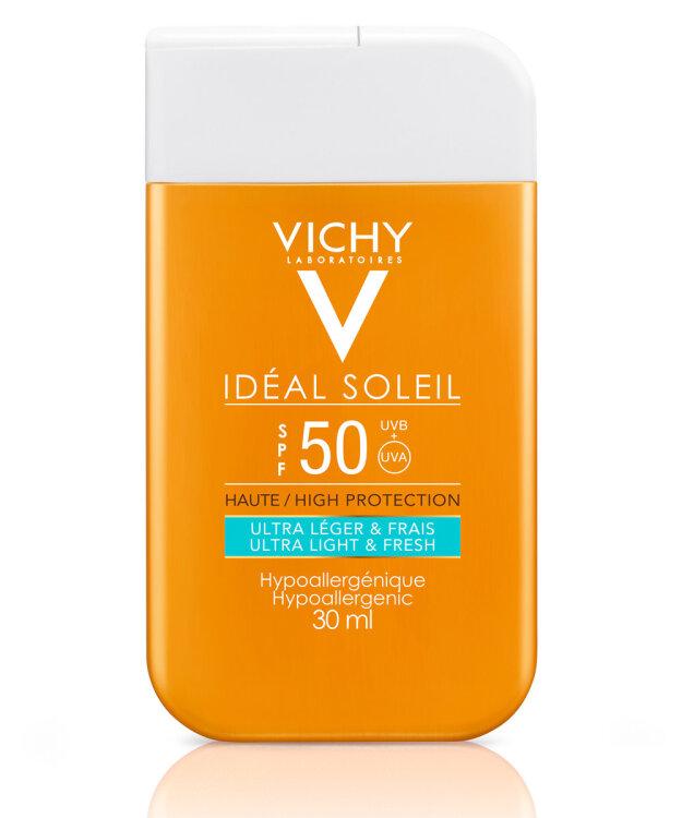 Vichy Ideal Soleil Ultra Light & Fresh SPF50 Αντηλιακή Προσώπου 30ml (Pocket Size)