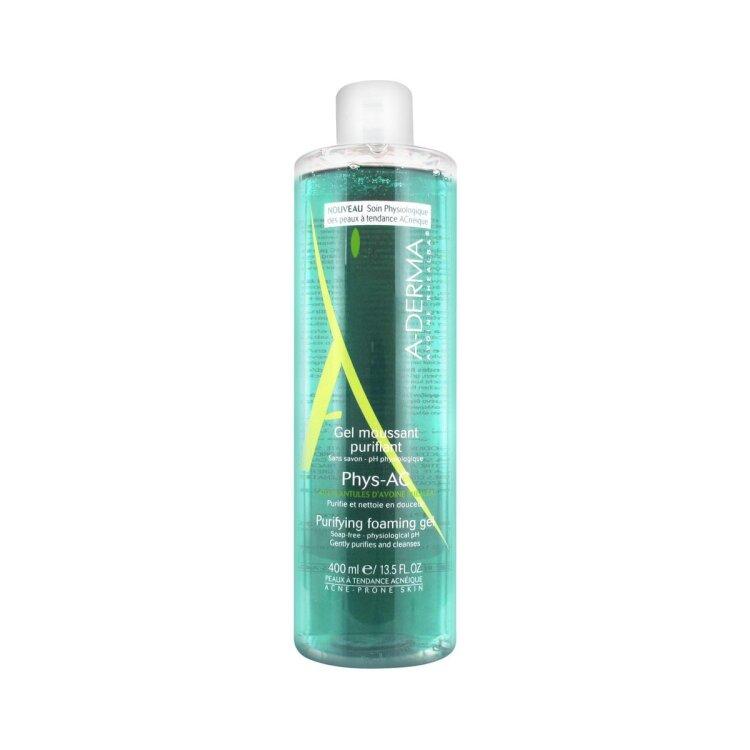 A-Derma Phys-AC Gel Moussant Purifiant Εξυγιαντικό Αφρίζον Gel Καθαρισμού 400ml