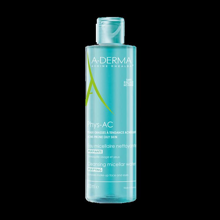 A-Derma Phys-AC Νερό Καθαρισμού & Ντεμακιγιάζ για Δέρμα με Τάση Ακμής 400ml