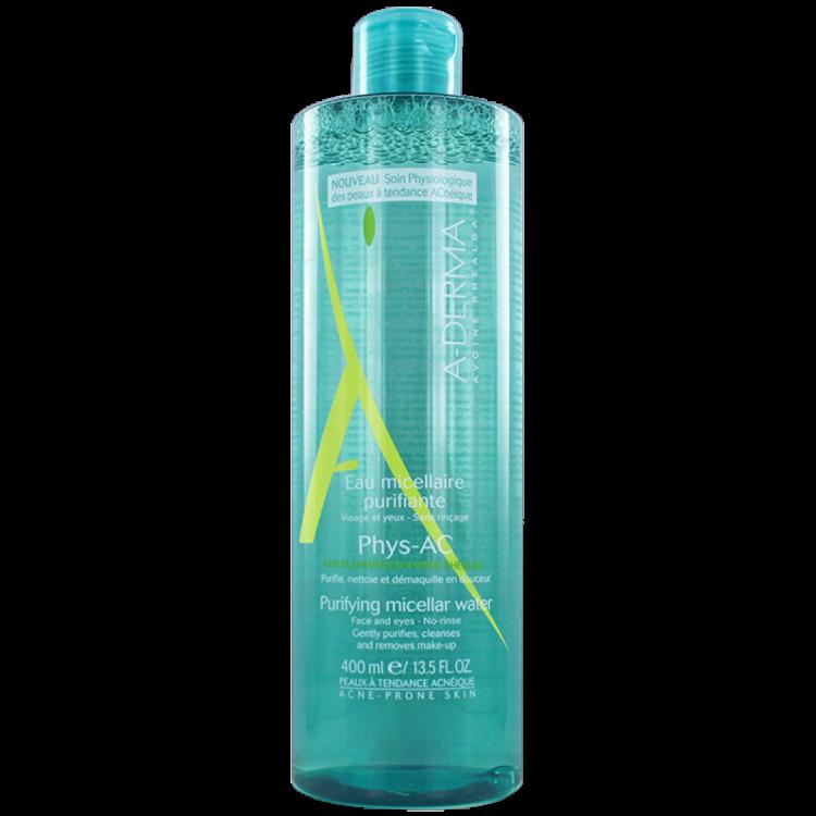 A-Derma Phys-AC Eau Micellaire Purifiante Εξυγιαντικό Νερό Καθαρισμού με Μικύλλια, Λιπαρά/Μικτά δέρματα 400ml