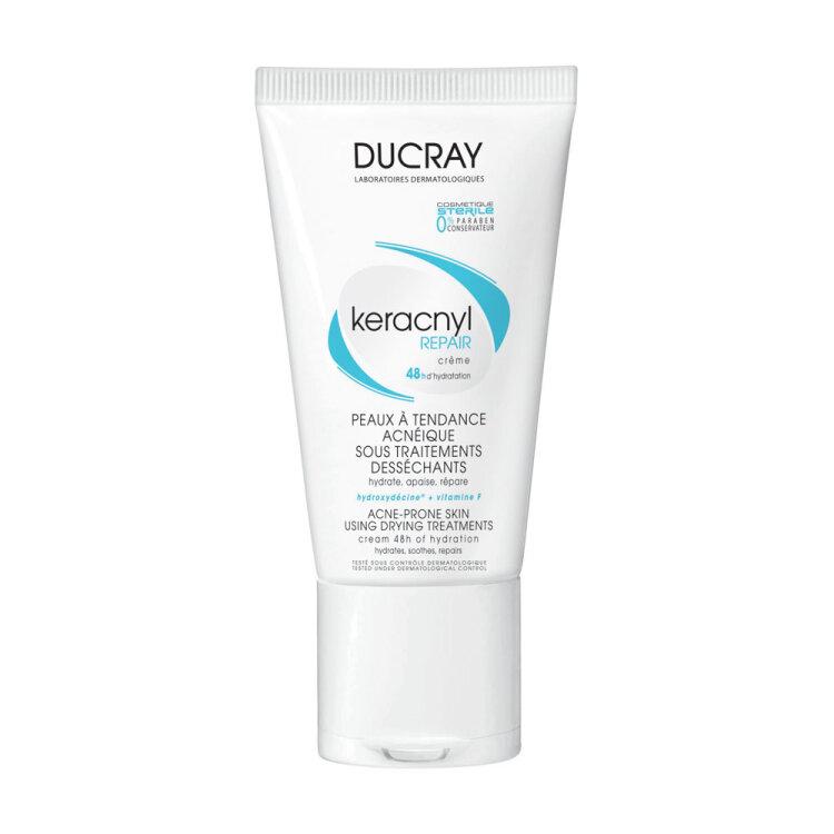 Ducray Keracnyl Repair Creme, Κρέμα που Ενυδατώνει και Καταπραϋνει το Λιπαρό Δέρμα 50ml