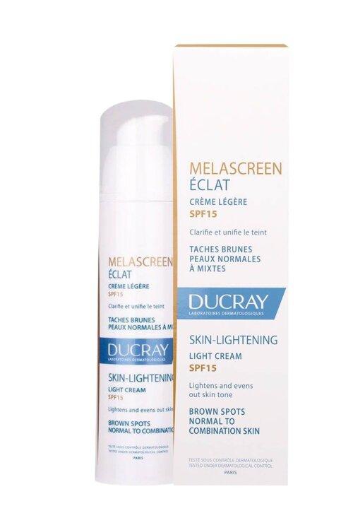 Ducray Melascreen Eclat Creme Legere SPF15, Ενυδατική Κρέμα Λάμψης για Πανάδες-Κηλίδες Κανονικές/Μεικτές 40ml