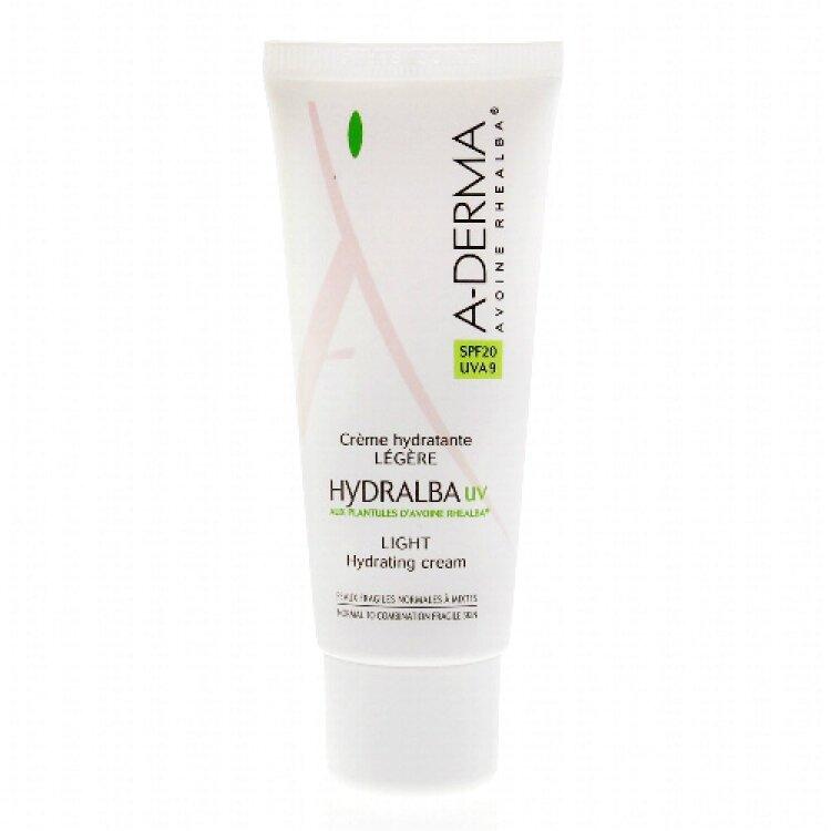 A-Derma Hydralba Creme Hydratante UV Legere SPF20 40ml