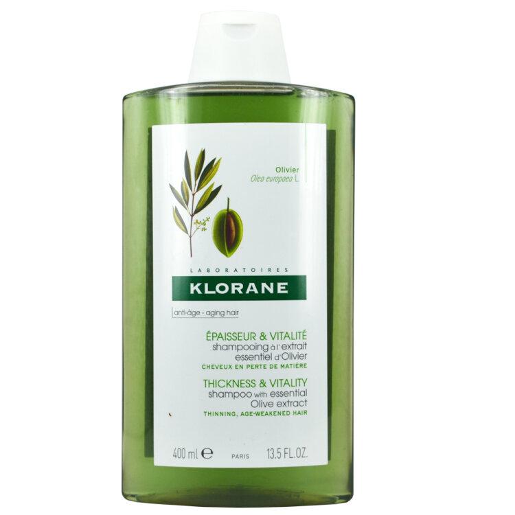 Klorane Αντιγήρανση Μαλλιών Σαμπουάν με καθαρό εκχύλισμα ελιάς της Πελοποννήσου - 400ml