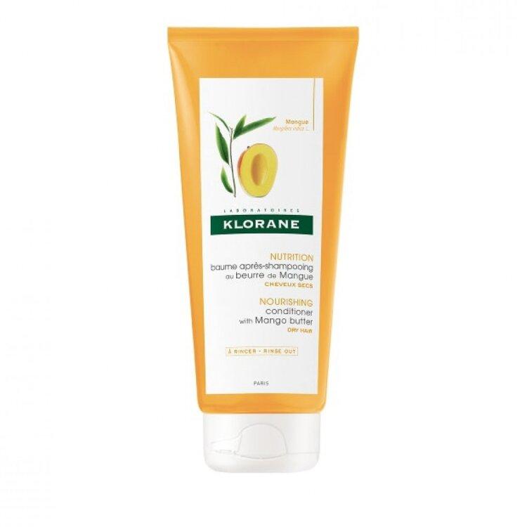 Klorane Mango Conditioner Μαλακτική Κρέμα Μαλλιών με Βούτυρο Μάνγκο για θρέψη & ελαστικότητα, 200ml