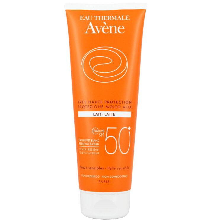 Avene Eau Thermale Lait SPF50 Αντιηλιακό Γαλάκτωμα Σώματος Για Το Ευαίσθητο Δέρμα 250ml