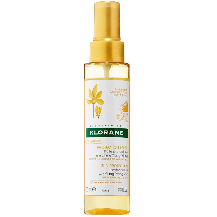 Klorane Ylang-Ylang Oil Προστατευτικό Έλαιο Μαλλιών με κερί Ylang-Ylang για θρέψη & αντιηλιακή προστασία 100m