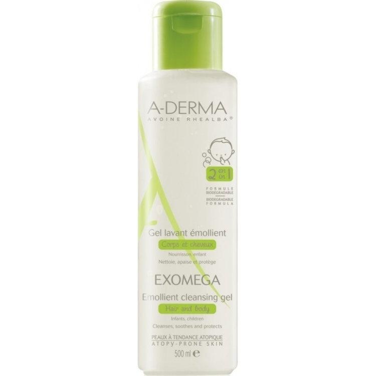 A-Derma Exomega Control Gel 2 σε 1 Μαλλιά και Σώμα 500ml