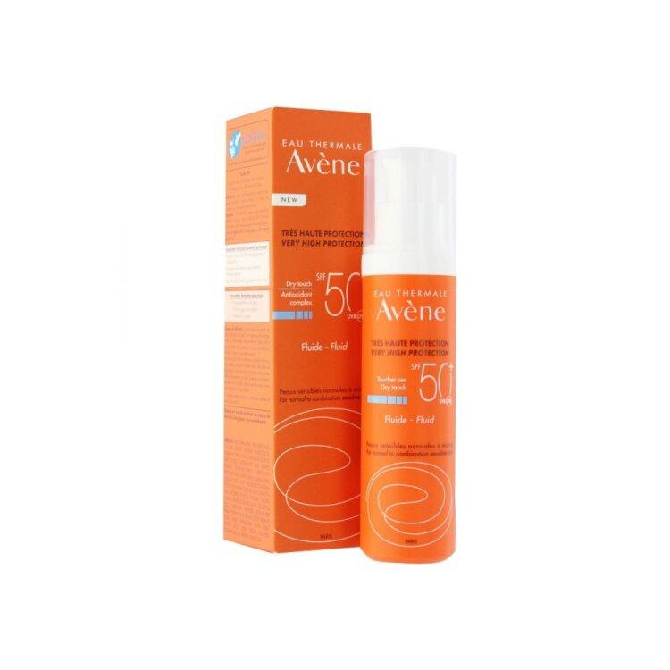 Avene Solaire Fluide SPF50+ Αντηλιακή Λεπτόρρευστη Κρέμα Προσώπου με Άρωμα 50ml