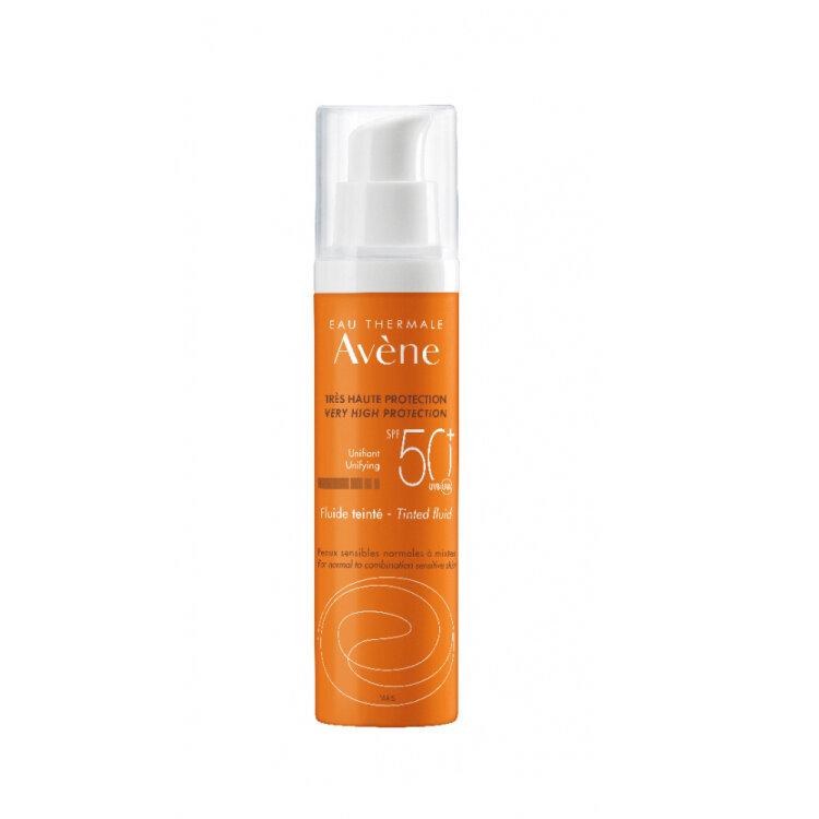 Avene Soins Solaires Fluide Teintee SPF50+ Αντηλιακή Προσώπου για Κανονικό/Μικτό & Λιπαρό Δέρμα με Χρώμα 50ml