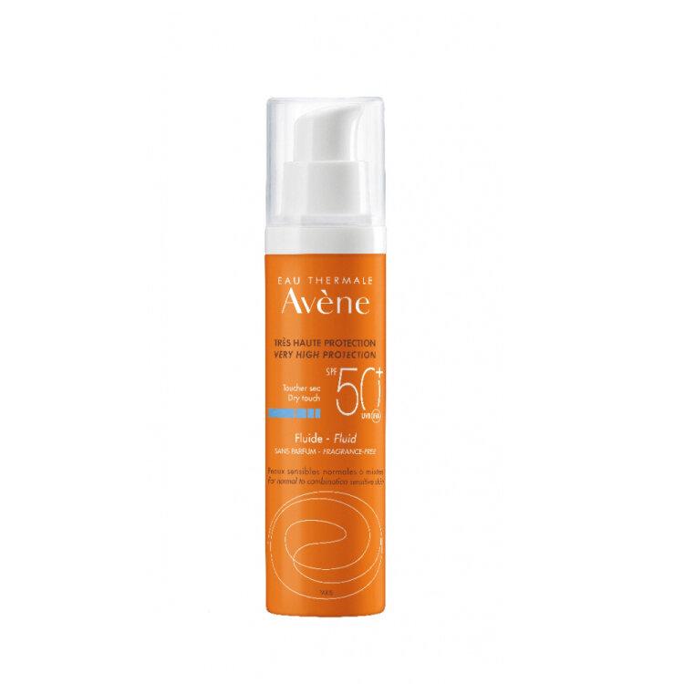 Avene Soins Solaires Fluide SPF50+ Αντηλιακή Προσώπου Χωρίς Άρωμα για Κάθε Τύπο Δέρματος 50ml
