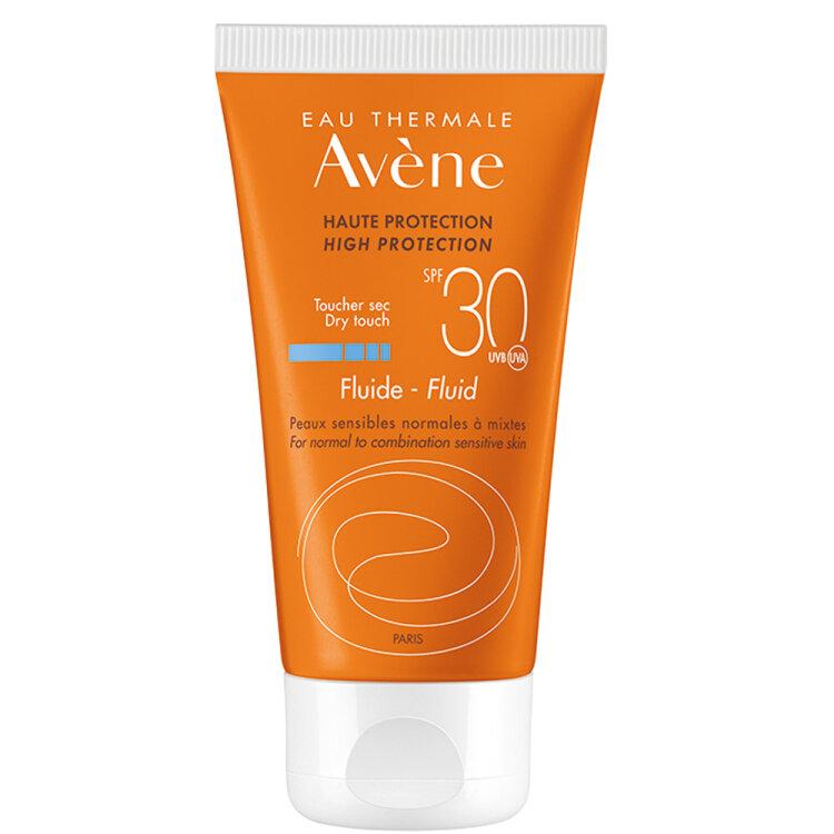 Avene Soins Solaires Fluide SPF30 Λεπτόρρευστη Αντηλιακή Προσώπου για Κάθε Τύπο Δέρματος 50ml