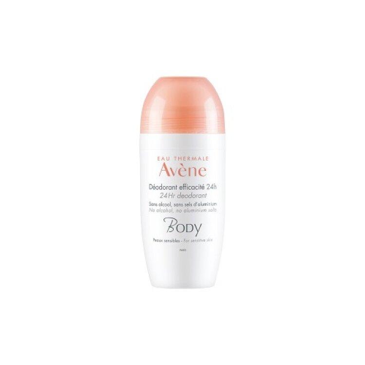 Avene Body Deodorant Efficacite 24h Roll-On Αποσμητικό 50ml