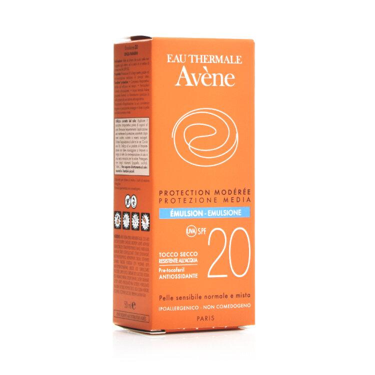 Avene Eau Thermale SPF20 Αντηλιακό Γαλάκτωμα Προσώπου για Κάθε Τύπο Δέρματος 50ml