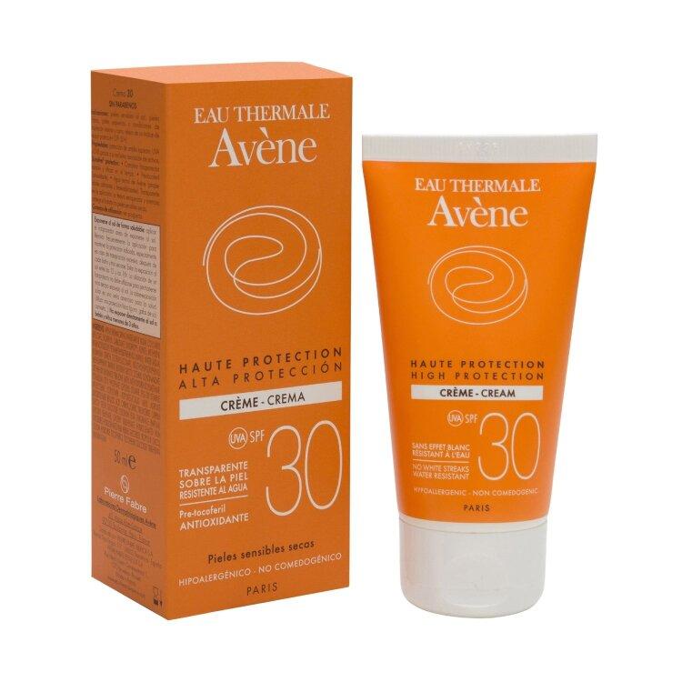 Avene Eau Thermale Creme SPF 30, Αντηλιακή Κρέμα Προσώπου Πλούσιας Υφής 50ml