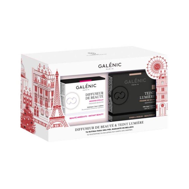 Galenic Set Diffuseur de Beaute Κρέμα Ημέρας Προσώπου 50ml & ΔΩΡΟ Teint Lumiere Poudre de Soleil 9,5gr