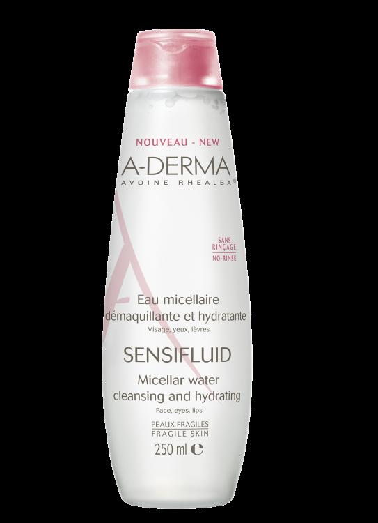 A-Derma Sensifluid Eau Micellaire, Καθαριστική Λοσιόν για πολύ Ευαίσθητες Επιδερμίδες 250ml