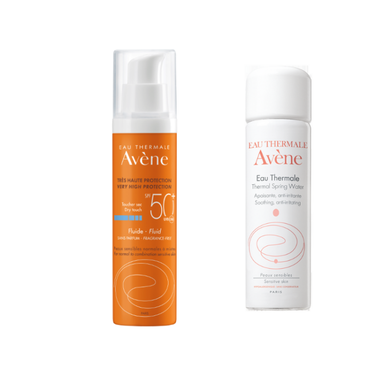 Avene Promo Fluide με Άρωμα SPF50+ ΔΩΡΟ Spray Ιαματικού Νερού 50ml