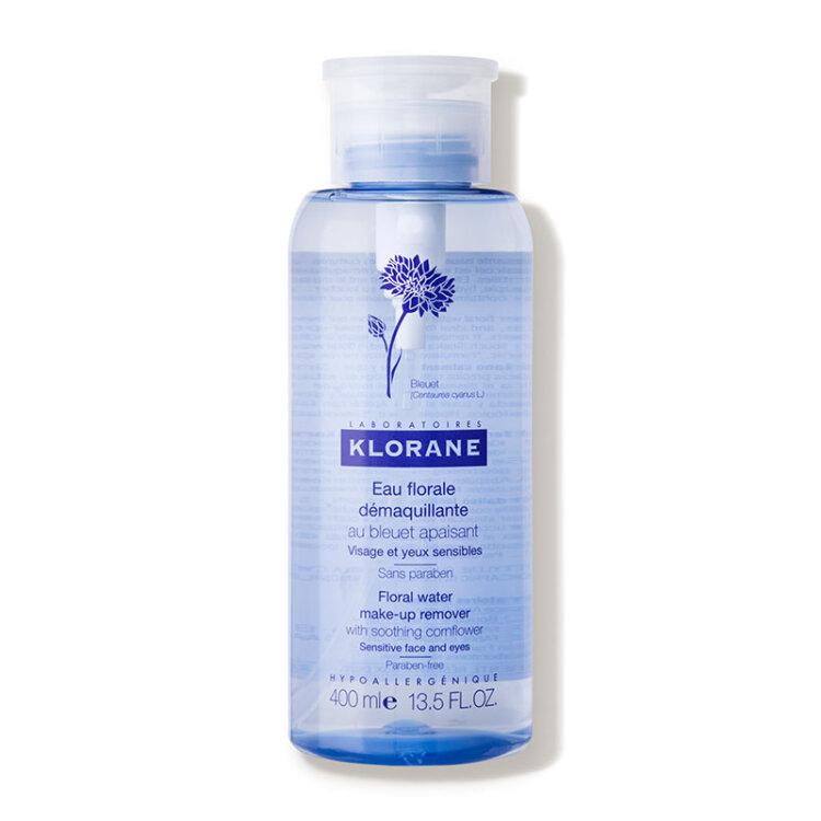 Klorane Eau Florale Demaquillante, Απαλό Νερό Καθαρισμού με Εκχύλισμα Κυανοκενταυρίδας 400ml