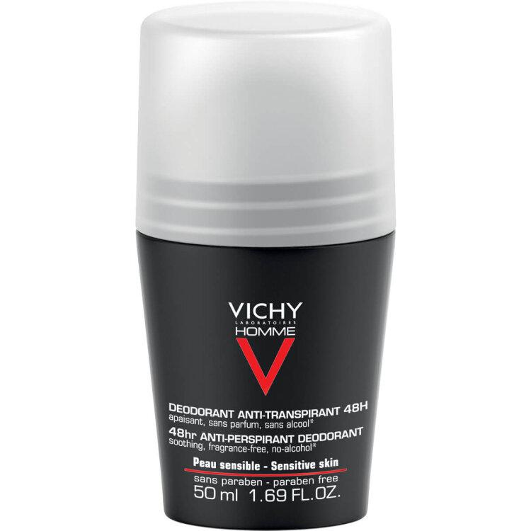 Vichy Homme 48H Αποσμητικό για ευαίσθητες επιδερμίδες, 50ml