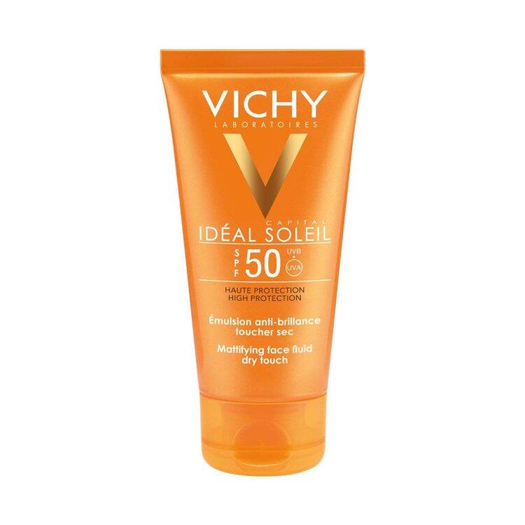 Vichy Ideal Soleil Mattifying Face Fluid Dry Touch SPF50, Ματ Αποτέλεσμα, Μικτές-Λιπαρές Επιδερμίδες 50ml