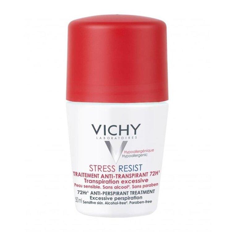 Vichy Deodorant Stress Resist Roll - On 72hrs, Αποσμητικό για Κάθε Τύπο Επιδερμίδας 50ml