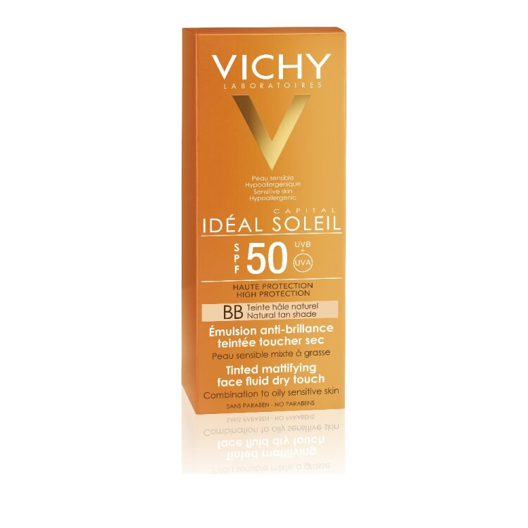 Vichy Ideal Soleil Αντιηλιακή με Χρώμα & Βελούδινο αποτέλεσμα SPF50+ 50ml