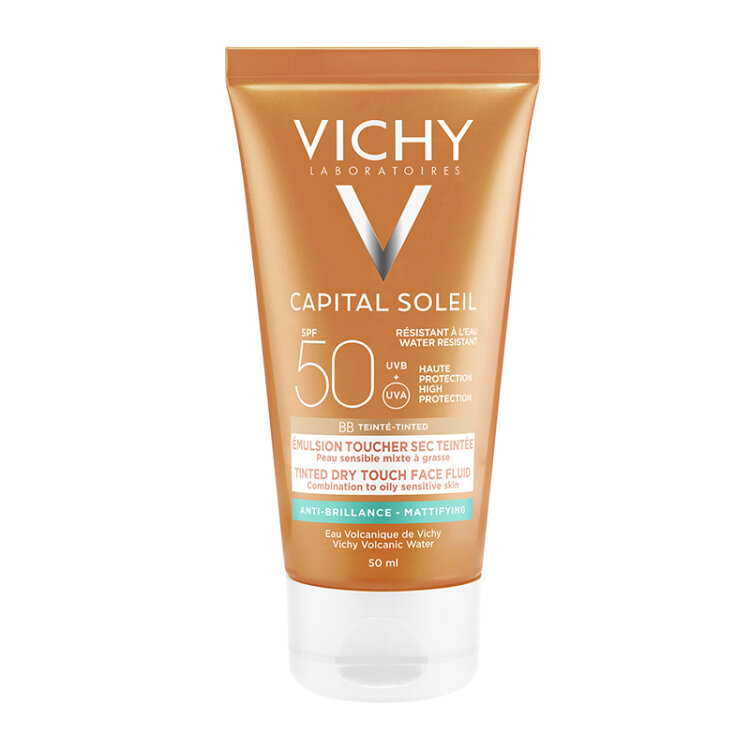 Vichy Capital Soleil Mattifying Face Tinted Dry Touch SPF50+ με Χρώμα 50ml