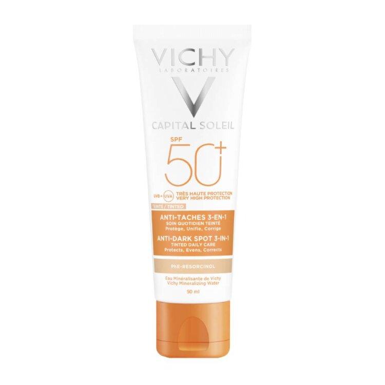 Vichy Capital Soleil Anti-Dark Spots SPF50+ Αντηλιακή Κρέμα Προσώπου με Χρώμα Κατά των Κηλίδων 50ml