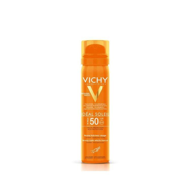 Vichy Ideal Soleil Brume Fraicheur Visage SPF50, Αντιηλιακό Mist Προσώπου 75ml