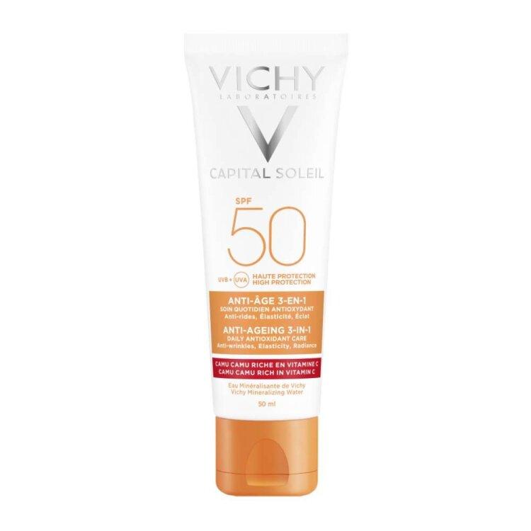Vichy Ideal Soleil Anti-Age SPF50+ Αντηλιακή Κρέμα Προσώπου με Αντιγηραντικούς Παράγοντες 50ml