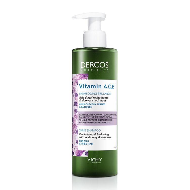 Vichy Dercos Vitamin A.C.E. Shine Shampoo Σαμπουάν Λάμψης 250ml