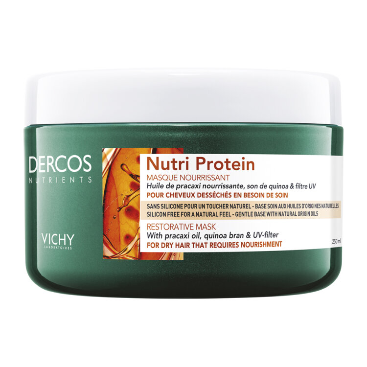 Vichy Dercos Nutri Protein Restorative Mask, Θρεπτική Μάσκα Αναδόμησης για Ξηρά Μαλλιά 250ml