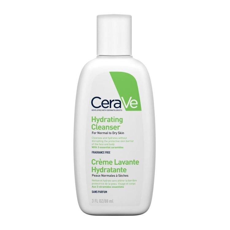 Cerave Hydrating Cleanser Κρέμα Καθαρισμού Προσώπου & Σώματος 3OZ 88ML