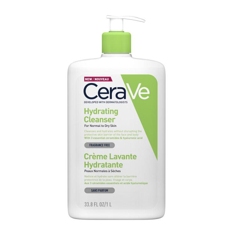 CeraVe Hydrating Cleanser Κρέμα Καθαρισμού για Κανονική - Ξηρή Επιδερμίδα 33.80 OZ 1Lt