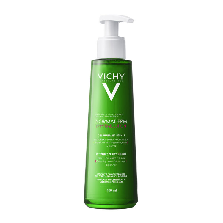 Vichy Normaderm Phytosolution Gel Καθαρισμού Προσώπου για Λιπαρές επιδερμίδες με Τάση Ακμής 400ml