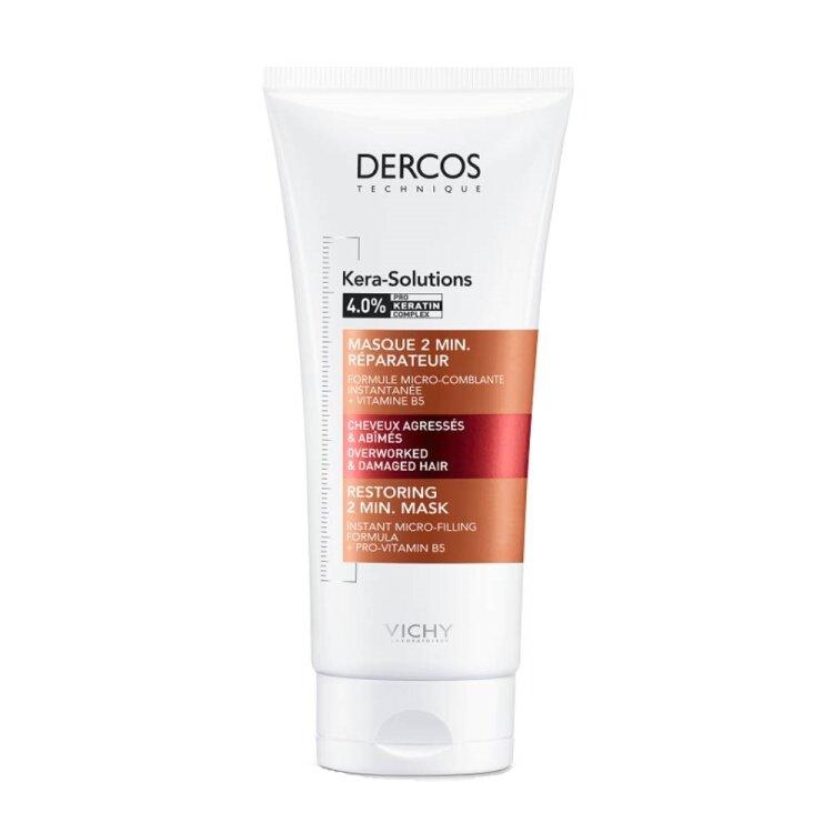 Vichy Dercos Kera-Solutions Restoring 2 min Mask Επανορθωτική Μάσκα για Ταλαιπωρημένα Μαλλιά 200ml