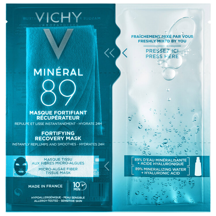 Vichy Mineral 89 Fortifying Instant Recovery Mask, Μάσκα Ενδυνάμωσης & Επανόρθωσης 29g