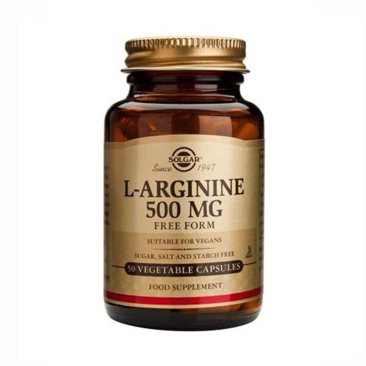 Solgar L-Arginine 500mg 50veg. Caps