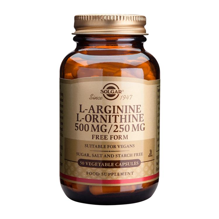 Solgar L-Arginine - L-Ornithine 500/250mg 50 veg.caps