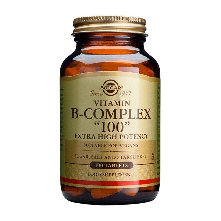 Solgar Vitamin B-Complex 100, 50 vegetable caps