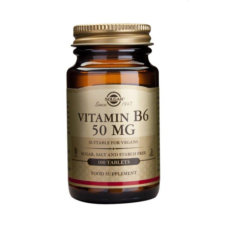 Solgar Vitamin B6 50mg Vegetable 100caps