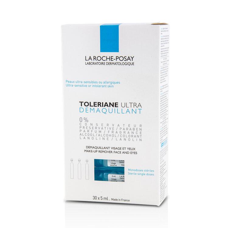 La Roche Posay Toleriane Ultra Demaquillant, Απαλό Ντεμακιγιάζ Ματιών για Ευαίσθητα Μάτια 30x5ml