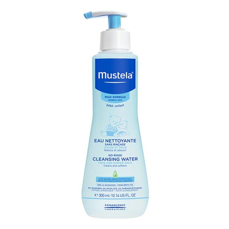Mustela No-Rinse Cleansing Water Βρεφικό-Παιδικό Καθαριστικό Υγρό Χωρίς Ξέπλυμα 300ml