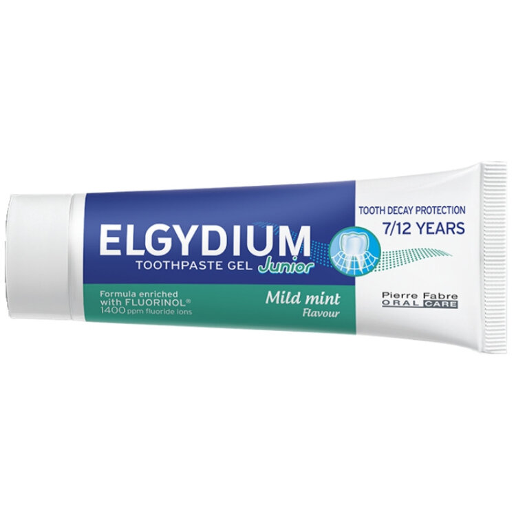 Elgydium Junior Οδοντόπαστα Gel για Παιδιά 7-12 ετών 1400ppm (Ήπια γεύση μέντας) 50ml