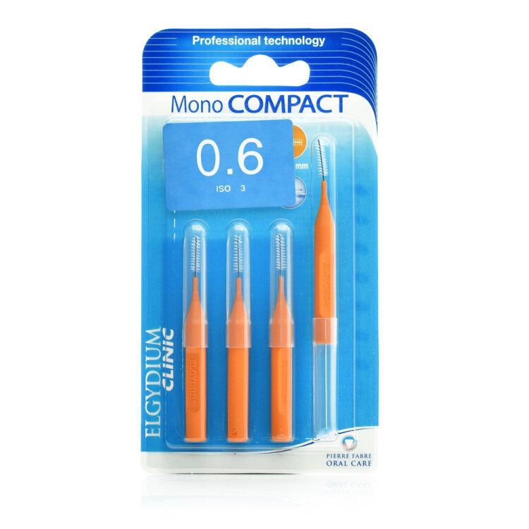 Elgydium Mono Compact Orange - 0.6mm Μεσοδόντια βουρτσάκια 4τμχ