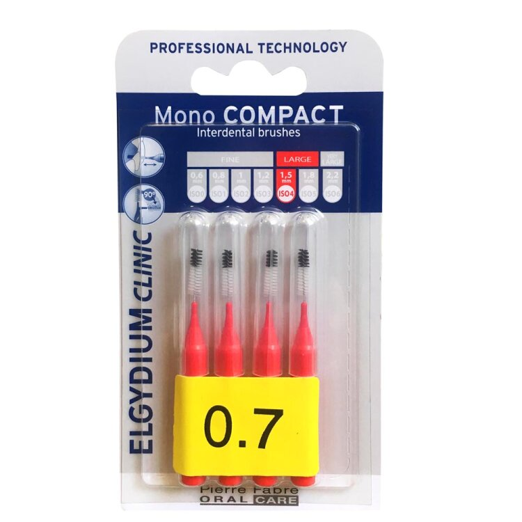 Mono Compact Red 0.7mm - Μεσοδόντια βουρτσάκια 4τμχ