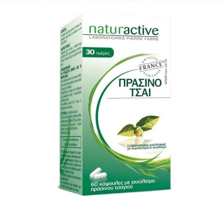 Naturactive Πράσινο Τσάι Συμπλήρωμα για την Ενίσχυση της Καύσης του Λίπους 60caps